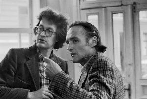 Regisseur Wim Wenders mit Dennis Hopper bei den Dreharbeiten © Wim Wenders Stiftung