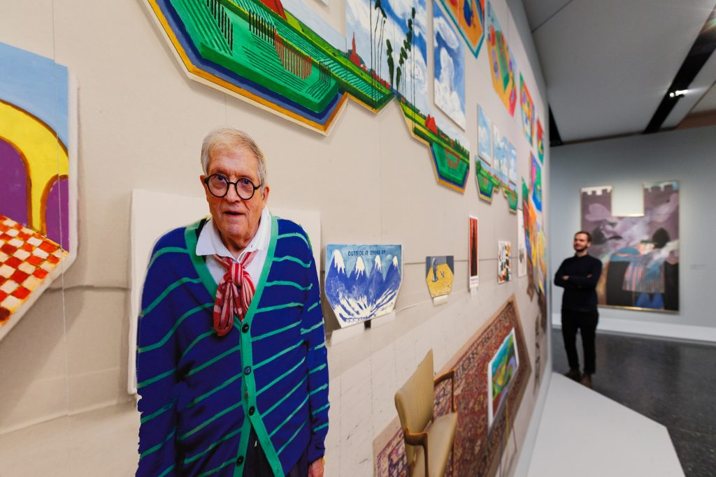 David Hockney im BKI, Foto: Ulrich Perrey