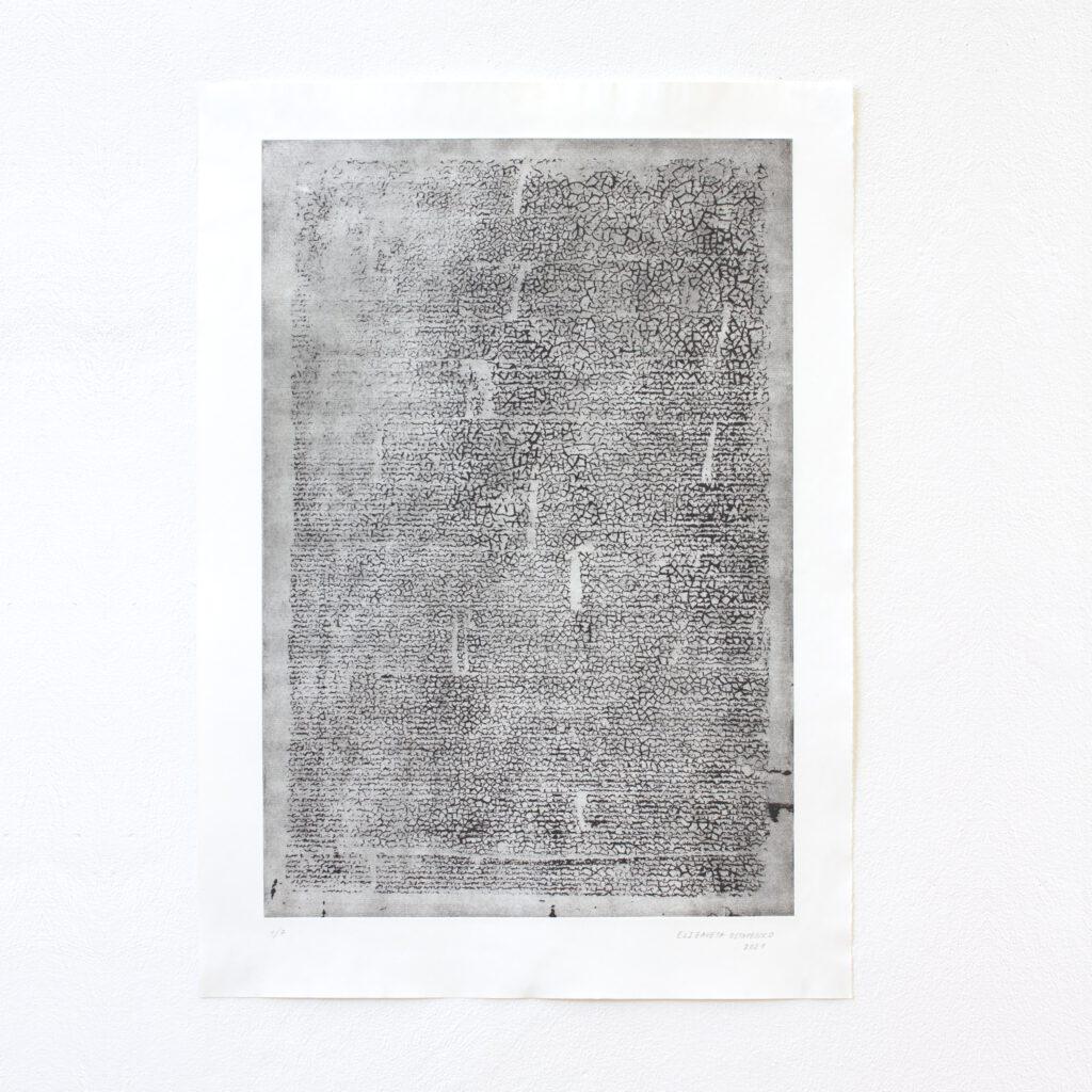 Ohne Titel, Radierung auf Papier, 2021